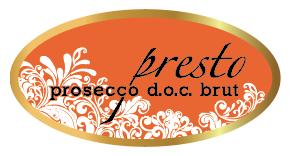 Presto Prosecco Front Label