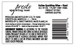 presto rose back label